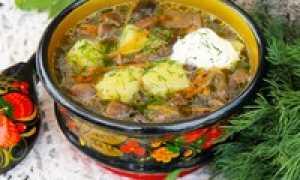 Грибной суп из свежих замороженных грибов