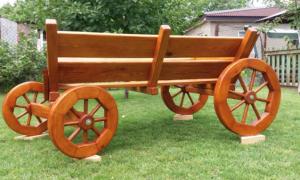 Декоративная телега для сада своими руками (фото и видео)