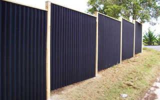 Забор из шифера своими руками