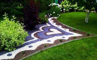 Декоративная древесная щепа: оформление сада цветной мульчей