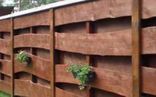Как построить забор из горбыля своими руками