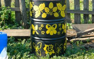 Как раскрасить бочки для сада своими руками