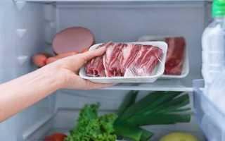 Как долго можно хранить свежее мясо